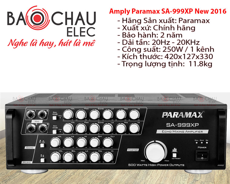 Amply Paramax SP 999XP New 2016